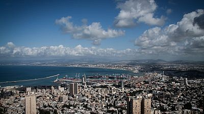 View of the port in the Northern Israeli city of Haifa. Credit: Marcelo Sus/Flash90.