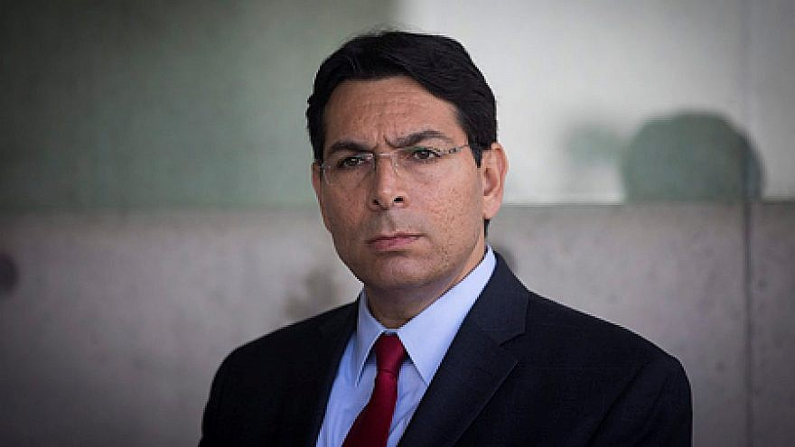 Israeli Ambassador to the United Nations Danny Danon during a visit of U.N. Secretary General António Guterres at the Yad Vashem Holocaust Memorial in Jerusalem on Aug. 28, 2017. Credit: Yonatan Sindel/Flash90.