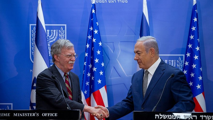 Israeli prime minister Benjamin Netanyahu holds a joint press conference with National Security Advisor of the United States John Bolton, at PM Netanyahu's office in Jerusalem. August 20, 2018. Photo by Ohad Zwigenberg/YEDIOTH AHRONOTH/POOL