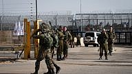 Israeli soldiers guard at the Israeli side of the Quneitra Crossing, in the Israeli Syrian border, in the Golan Heights on Oct. 15, 2018, as it reopens after four years. Photo by Basel Awidat/Flash90.