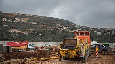 The site where a tunnel that crosses from Lebanon to Israel was discovered by Israeli forces on the border near Metula, in northern Israel, on Dec. 24, 2018. Photo by Hadas Parush/Flash90.