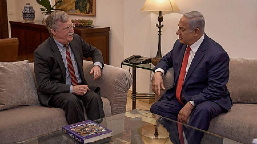U.S. National Security Advisor John Bolton with Israeli Prime Minister Benjamin Netanyahu at the Prime Minister's Residence in Jerusalem, Jan. 6, 2019. Credit: Matty Stern/U.S. Embassy Jerusalem.