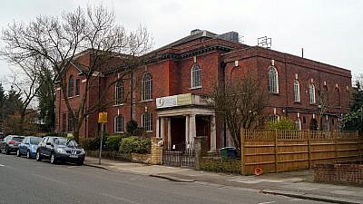 Golders Green Synagogue in a heavily Jewish suburb of London, March 2016. Credit: Erfurth/Wikimedia Commons.