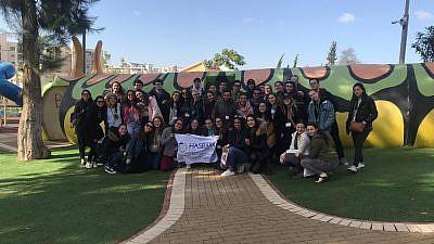 Hasbara Fellows visit an indoor playground in Sderot. Credit: Courtesy.