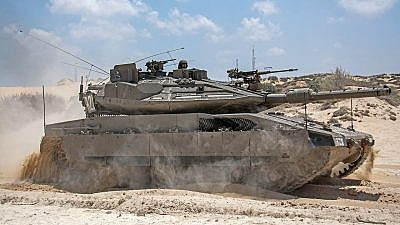 Merkava Mk 4m with the Trophy APS during Operation Protective Edge in 2014. Credit: IDF Spokesperson Unit/Wikimedia Commons.