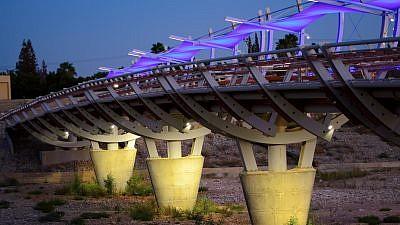 Pipes Bridge, Beersheva, Israel. Credit: Alexey Goral via Wikimedia Commons.