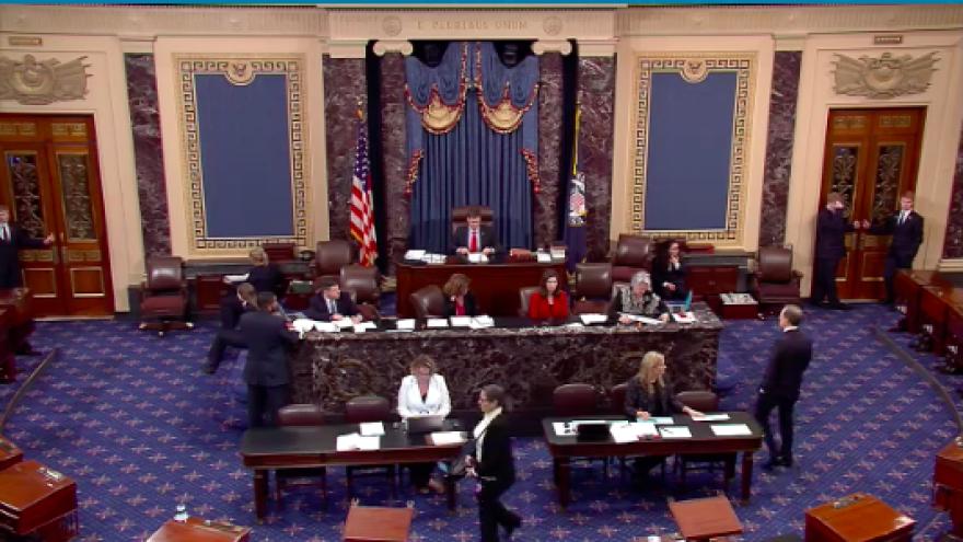 U.S. Senate in session on Jan. 10, 2019. Credit: Screenshot.