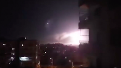 Israeli airstrike in Damascus on Jan. 21, 2019. Source: Screenshot.
