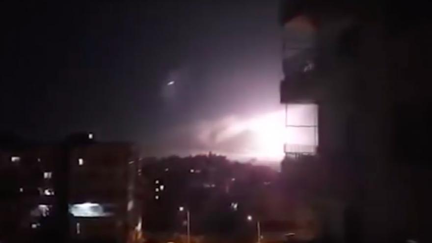 Israeli airstrike in Damascus on Jan. 21, 2019. Source: Screenshot.