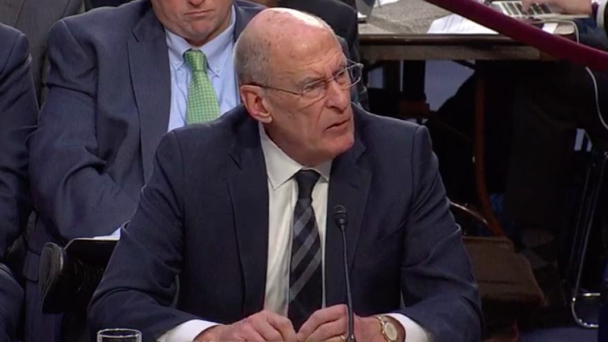 Dan Coats , U.S. director of national intelligence, testifies in front of the Senate Intelligence Committee about Iranian nuclear activity, Jan. 29, 2019.