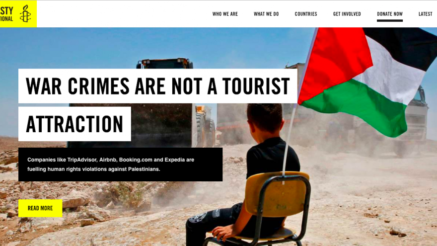 Front page of the Amnesty International website, Jan. 20, 2019. Source: Screenshot