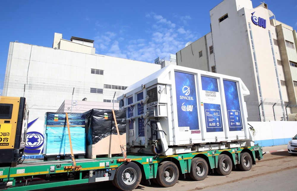 Ahead of moon mission, SpaceIL transports first Israeli