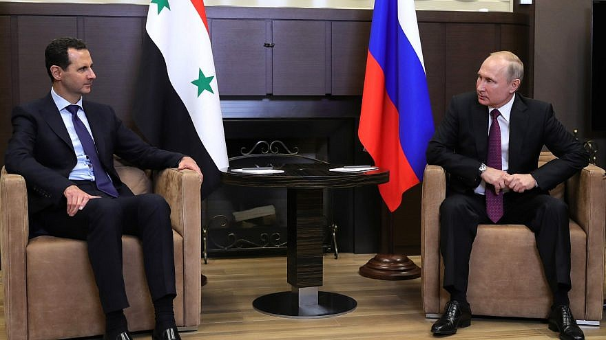 Russia President Vladimir Putin and Syrian dictator Bashar al-Assad in May 2018. Credit: Wikimedia Commons.