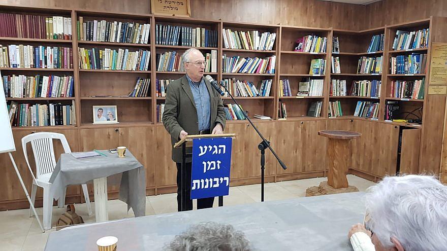 Former Knesset member Professor Aryeh Eldad. Credit: Sovereignty.