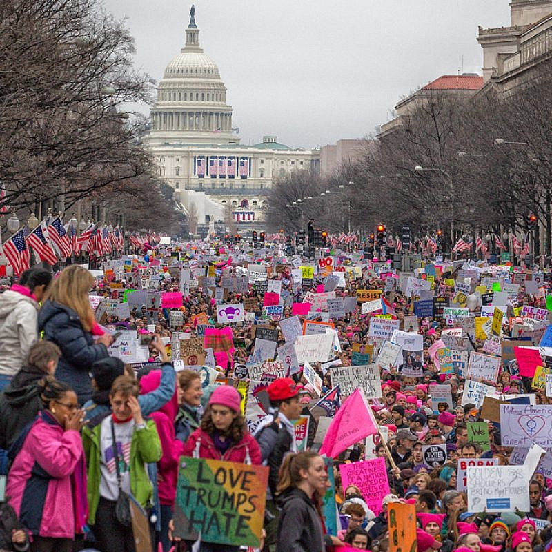 The Women's March on Washington, Jan. 21, 2017. Credit: Wikimedia Commons.