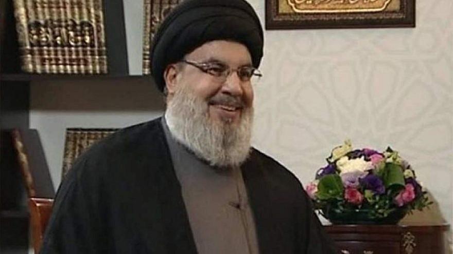 Hezbollah leader Hassan Nasrallah. Source: Arab Press/JCPA.