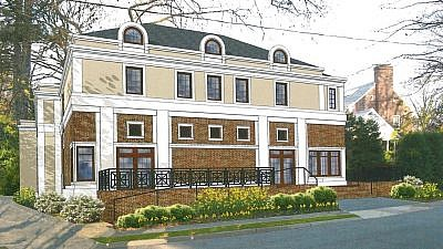A rendering of the Shomrei Torah synagogue that will be built in Clifton, New Jersey. Courtesy.