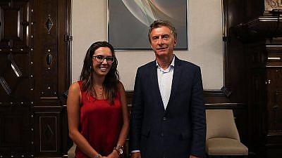 Elisa Alejandra Trotta with Argentinian President Mauricio Macri. Credit: Wikimedia Commons.