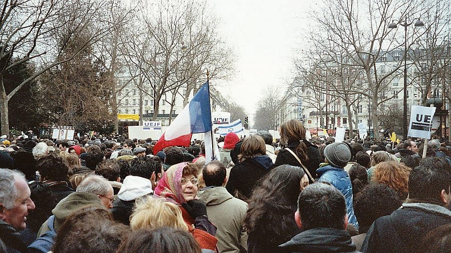 Paris demonstration in honor of Ilan Halimi and against anti-Semitism in 2006. Credit: Olivier Lévy/Wikimedia Commons.
