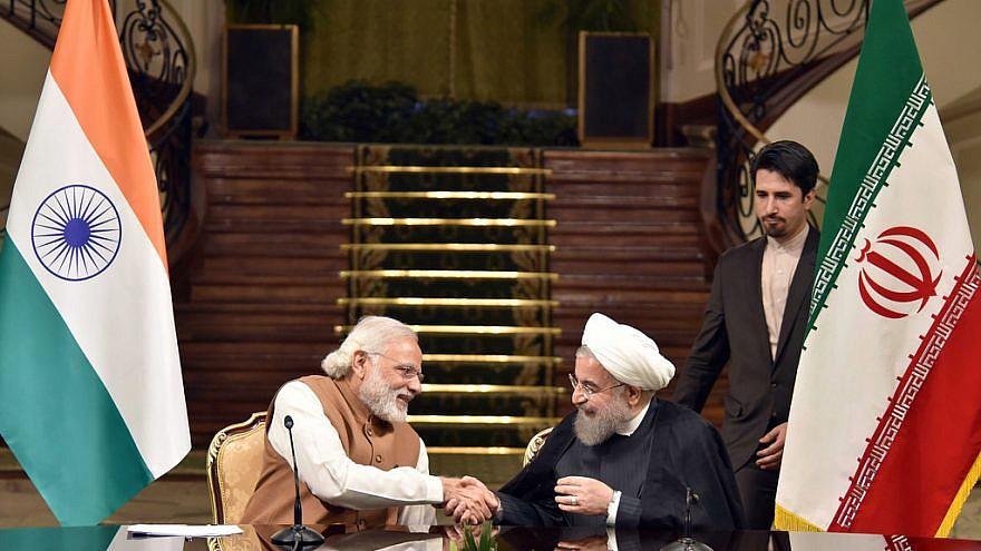 Indian Prime Minister Narendra Modi with Iranian President Hassan Rouhani, May 23, 2016. Credit: Narendra Modi/Flickr.