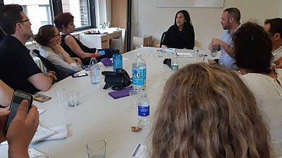 Participants of the Israeli secular yeshivah program BINA: The Jewish Movement for Social Change gather for Torah study, and discussions on Jewish history and peoplehood. Credit: BINA/Facebook.