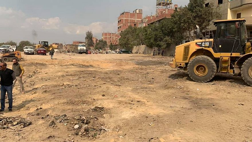 Egypt has started eliminating slums near the eastern part of Bassatine Cemetery in Cairo, the second-oldest Jewish cemetery on earth. Credit: Jewish community in Cairo.