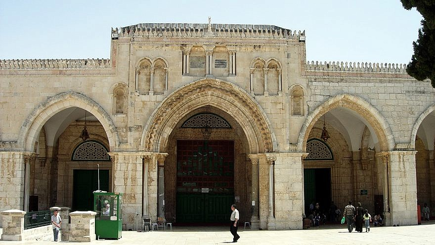Al-Aqsa mosque on the Temple Mount in Jerusalem. Credit: Mark A. Wilson/Department of Geology, the College of Wooster.