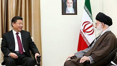 President of China Xi Jinping with Iran's leader, Ayatollah Ali Khamenei, in 2016. Credit: Official Khamenei website via Wikimedia Commons.