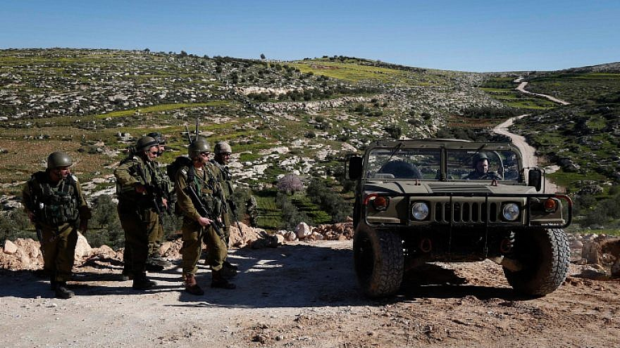 Israeli Border Police in the village of Yatta near Hebron, on Feb. 13, 2019. Photo by Wisam Hashlamoun/Flash90.
