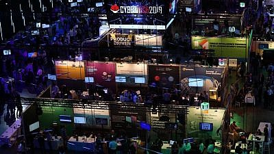A view of Israel's 2019 Cybertech conference. Photo: Noa Amouyal.