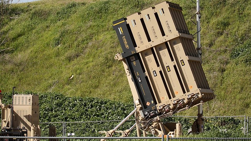 View of an Iron Dome air-defense missile system in central Israel installed following tensions with Syria and in Israel's south, Jan. 25, 2019. Photo by Flash90.