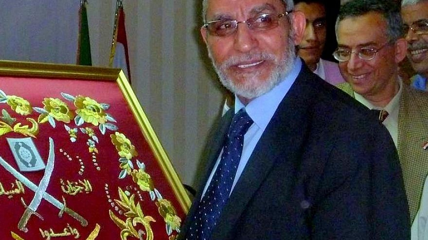 Mohamed Badia, leader of the Muslim Brotherhood, 2011. Credit: Wikimedia Commons.