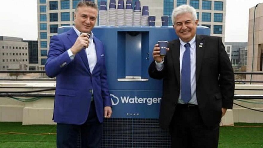 Brazilian Minister of Science Marcos Cesar Pontes (left) and president of Watergen Dr. Michael Mirilashvili. Credit: Watergen.