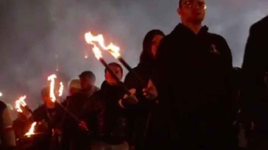 Bulgarian nationalists march through Sofia on Feb. 18, 2017. Credit: Screenshot.