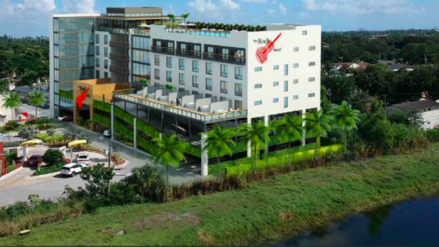 Screenshot of artist's rendering of the 100-room Kosher House hotel planned in Hollywood, Fla.