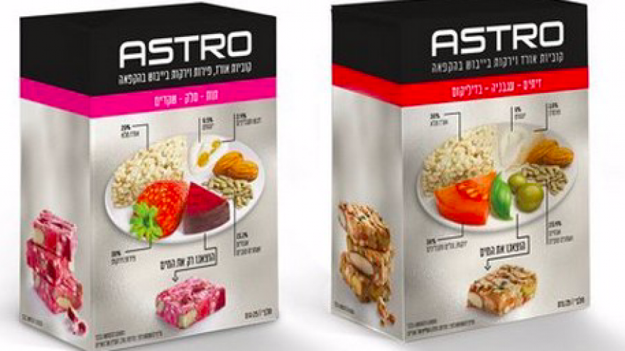 Strauss Group Inc.'s latest snack, Astro, is a nutritional cube consisting of freeze-dried and pressed fruits, vegetables and grains. Credit: Screenshot.