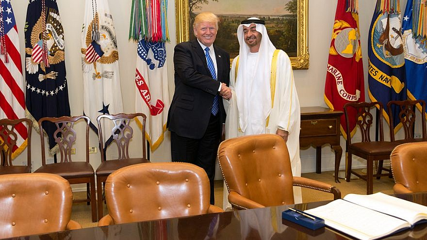 U.S. President Donald Trump meet with Sheikh Mohamed bin Zayed Al Nahyan, Crown Prince of Abu Dhabi, in the Roosevelt Room of the White House on May 15, 2017. Credit: Official White House Photo by Shealah Craighead.