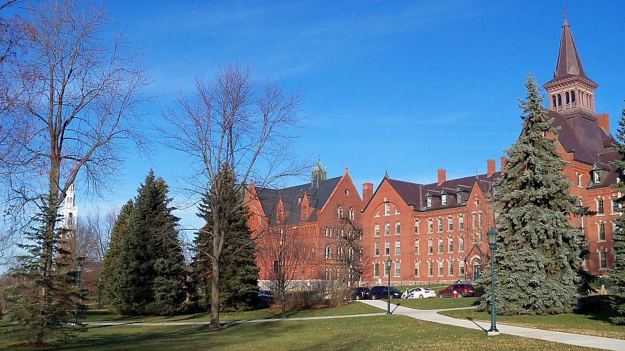 Scene on the campus of the University of Vermont in Burlington, Vt. Credit: AlexiusHoratius/Wikimedia Commons.