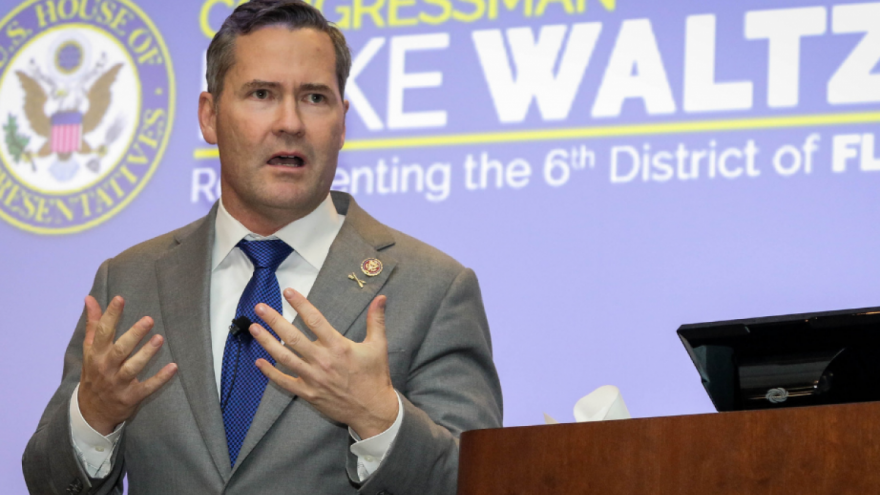 Rep. Michael Waltz (R-Fla.) speaking at an event. Credit: U.S. Army Photo by Sgt. Aaron Berogan.