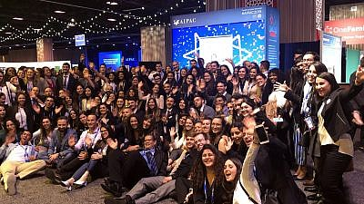 A delegation of 120 Israeli emissaries representing the Jewish Agency for Israel are attending the 2019 AIPAC Policy Conference from March 24-26 in Washington, D.C. Credit: Courtesy of the Jewish Agency for Israel.