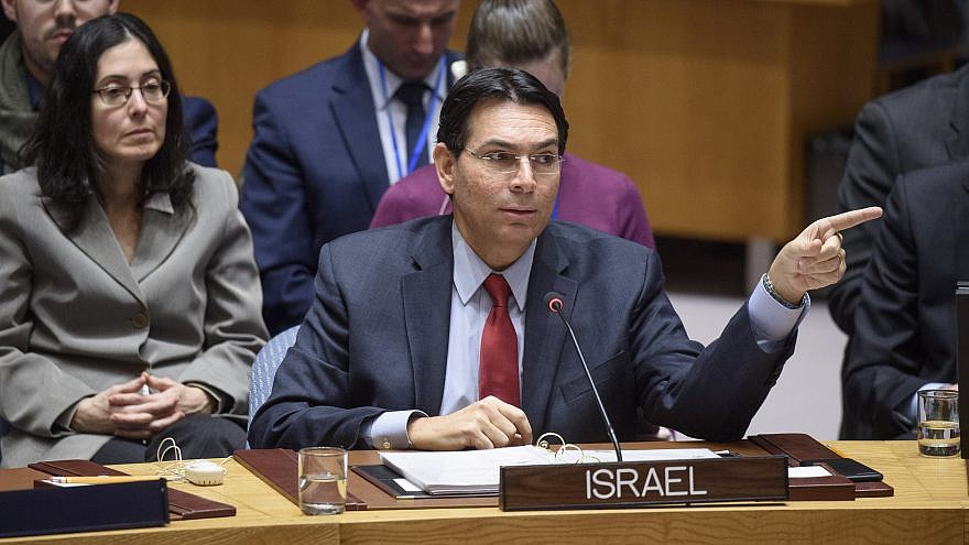 Israeli Ambassador to the United Nations Danny Danon addresses the U.N. Security Council during a meeting on the situation in the Middle East, including the Palestinian question. Credit: U.N. Photo/Loey Felipe.