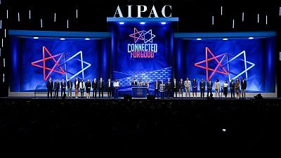 A view of the 2019 AIPAC Policy Conference proceedings in Washington, D.C. Credit: AIPAC via Twitter.