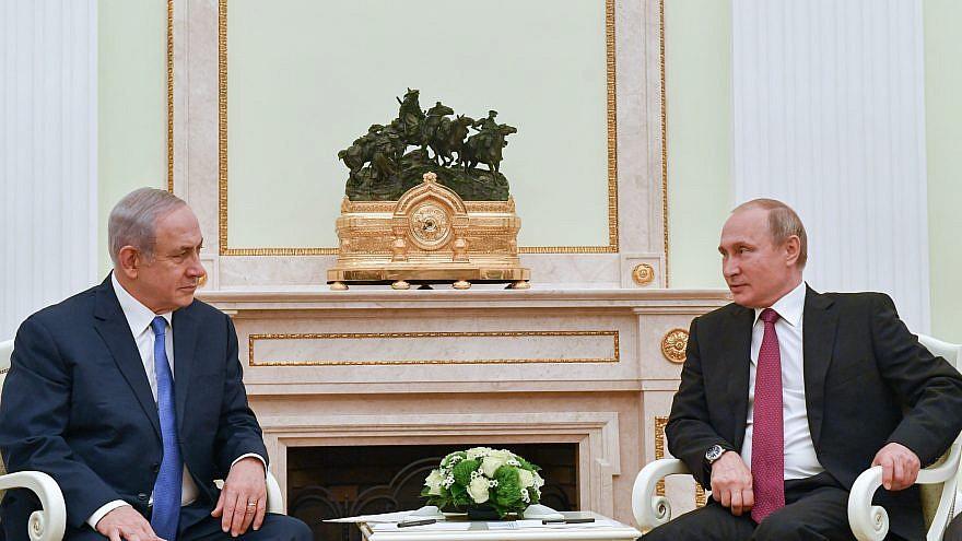Israeli Prime Minister Benjamin Netanyahu meets with Russian president Vladimir Putin in Kremlin, Moscow, Russia. July 11, 2018. Credit: Kobi Gideon / GPO