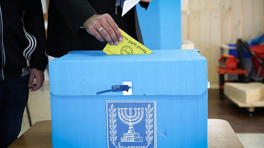 Tzfat mayoral candidate Ilan Shohat casts his ballot at a voting station on the morning of the Municipal Elections, on Oct. 30, 2018, in the northern Israeli city of Tzfat. Credit: David Cohen/Flash90.
