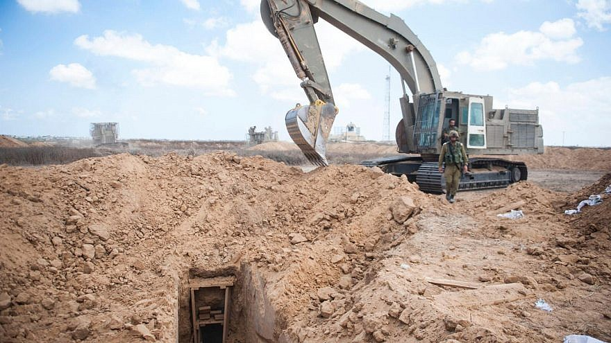 An Israel Defense Forces' operation to detect and destroy tunnels by Palestinian terrorists. Credit: IDF Spokesperson's Unit.
