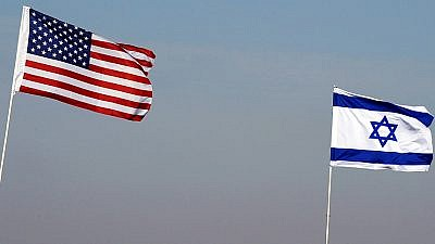 Israeli and American flags. Credit: Israel Defense Forces via Wikimedia Commons.