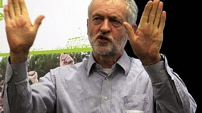 """British Labour Party leader Jeremy Corbyn at the """"Take Back Our World!"""" Global Justice Now event, Feb. 21, 2015. Credit: Wikimedia Commons."""
