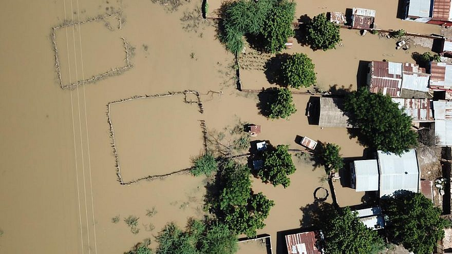 Aerial view of Tengani, Nsanje, Malawi, affected by floods due to the incessant rains from March 5 to March 9, 2019. Credit: U.N. News.