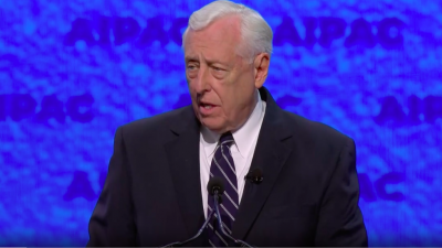 House Majority Leader Steny Hoyer addresses the 2019 AIPAC Policy Conference in Washington, D.C. Credit: Screenshot.