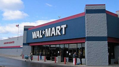 A Wal-Mart store exterior in Laredo, Texas. Credit: Jared C. Benedict via Wikimedia Commons.